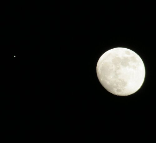 11. Moon and Jupiter on Christmas Night