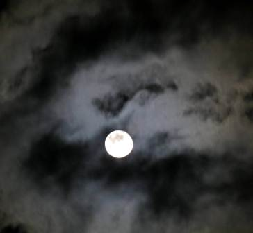 2. Moon and Clouds