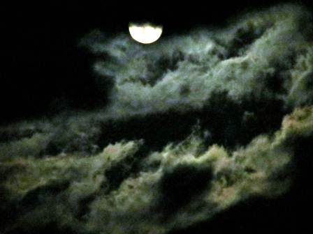 3. Moon and Clouds