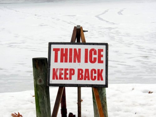 2. Thin Ice Sign