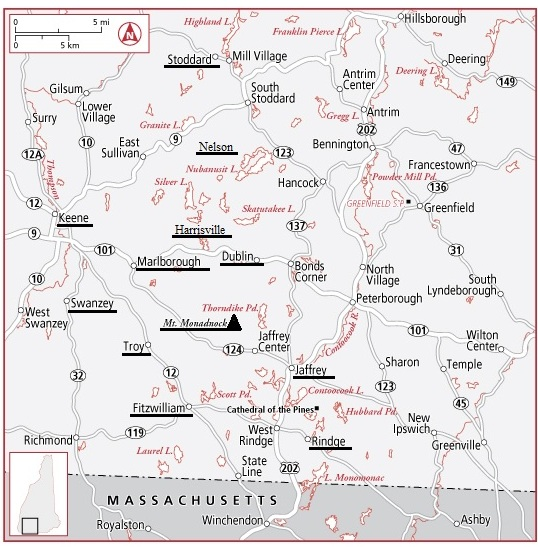 18. Monadnock Region Map
