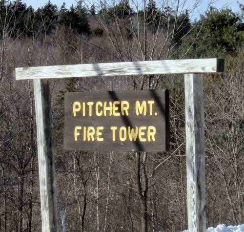 2. Pitcher Mountain Sign