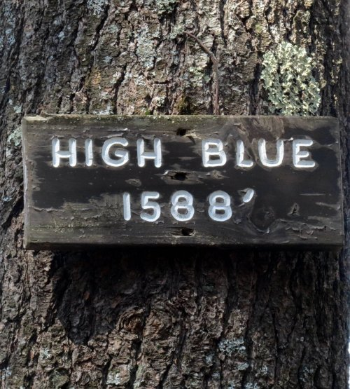9. High Blue Sign