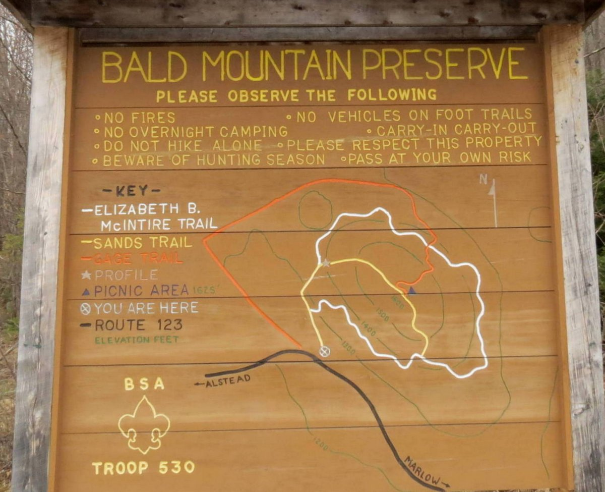 1. Bald Mountain Sign