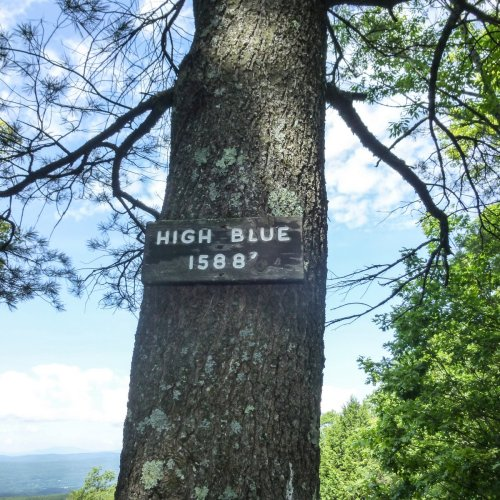 8. High Blue Sign