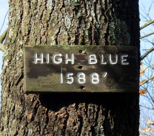 13. High Blue Sign