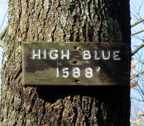 13. High Blue Sign