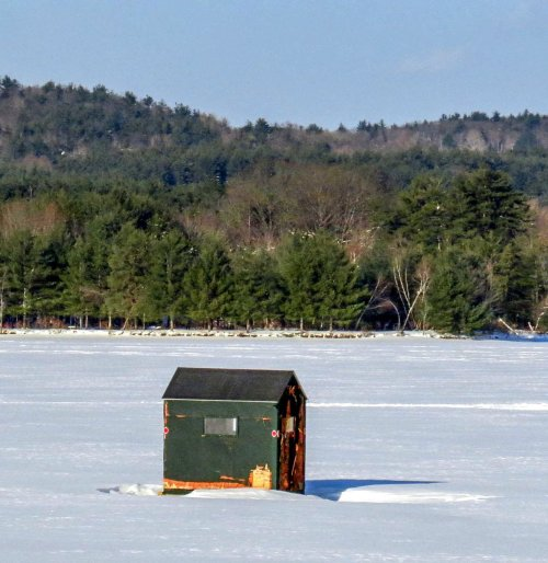10. Ice Fishing Hut
