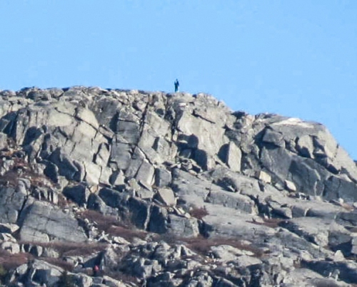 3. Climber on Monadnock