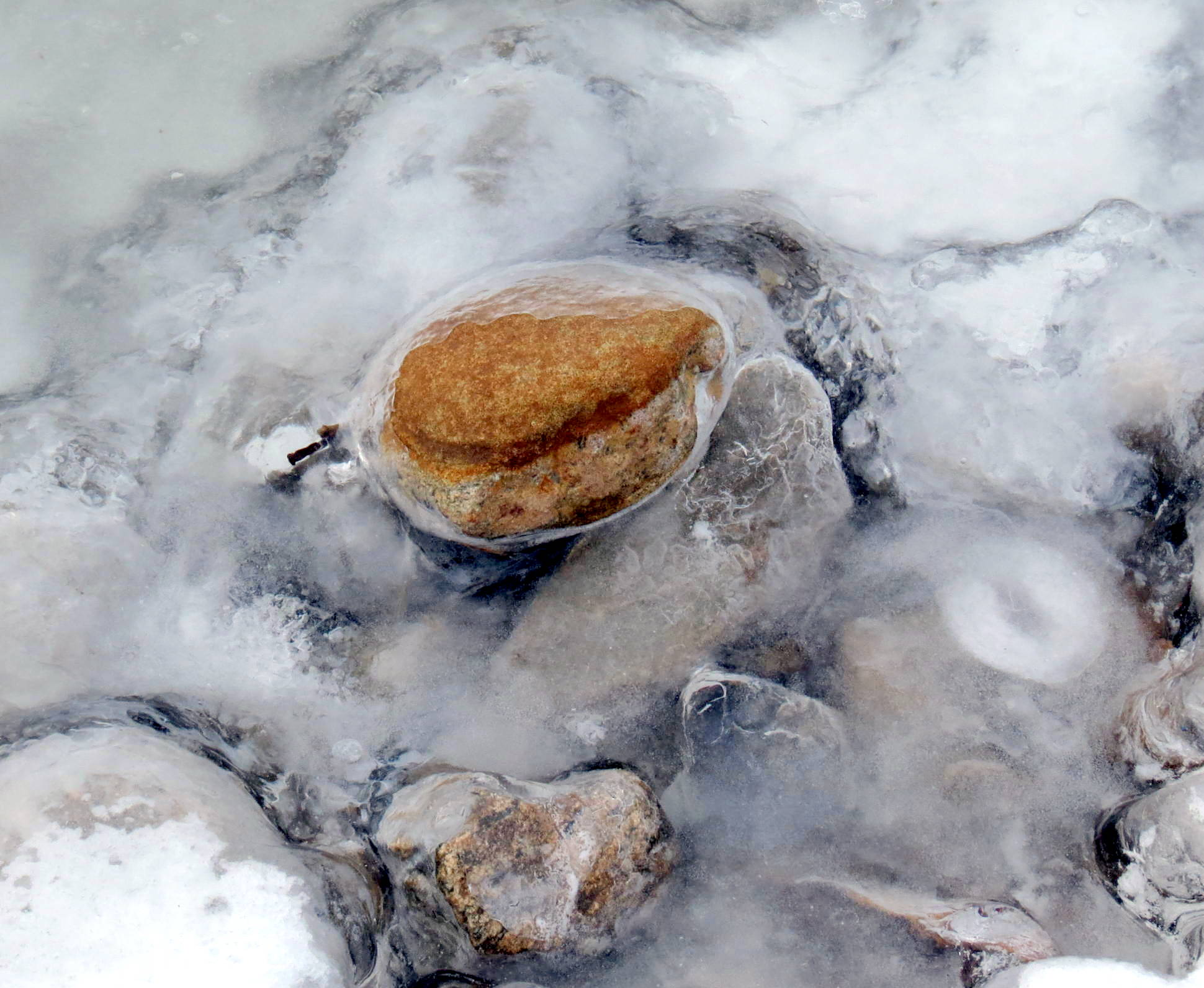 18. Stone Frozen in Ice