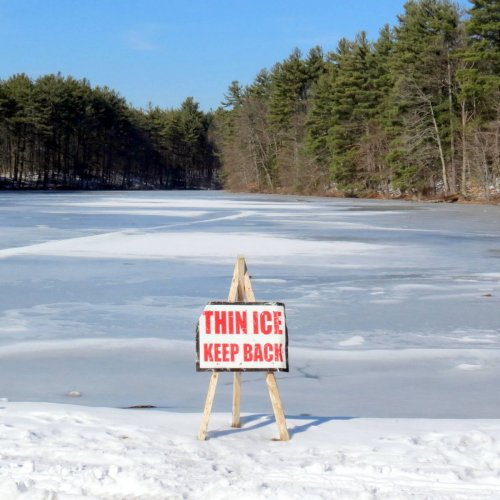 9. Thin Ice Sign